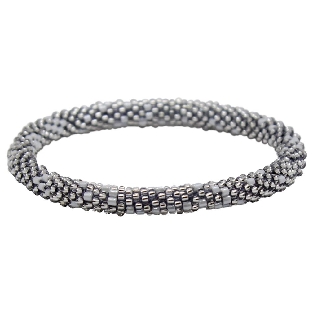 Aid through Trade Beaded Roll-on Bracelet (Silver-tone)