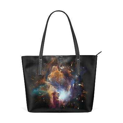 5900a80e7aa6 JSTEL Women Tote Top Handle Starry Sky Shoulder Bags Ladies Fashion ...