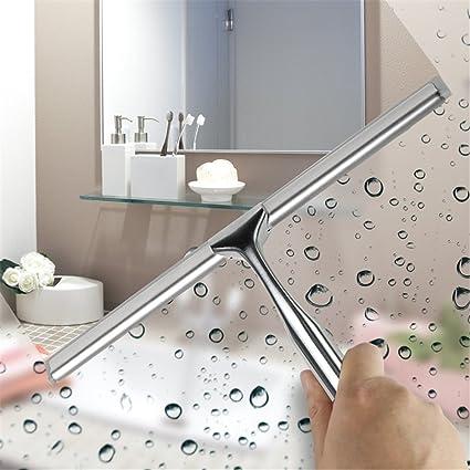 Equipo De Limpieza De Ventanas Escobilla De Acero Inoxidable Para Vidrio, Azulejos, Espejos, Mamparas De Ducha: Amazon.es: Hogar