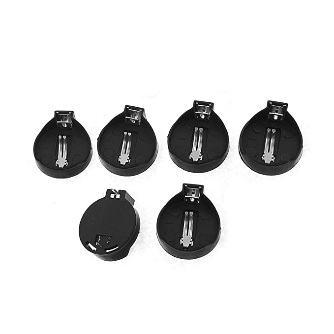 Pack of 20 SODIAL Black Plastic Shell Dip Type CR2032 Vertical Coin Button Cell Battery Sockets 3 Pin Holder Case