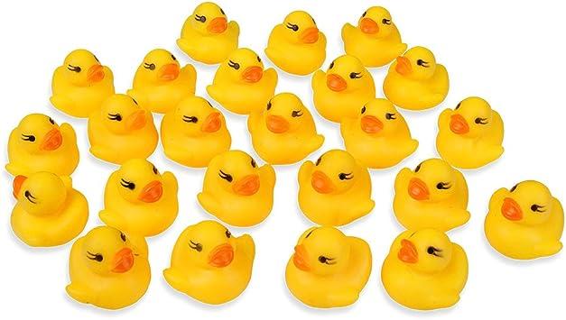 Schramm/® 10 Pack de Goma de Pato Amarillo 5cm en Red de Goma de Pato de Goma de Pato de Goma de Pato de Goma de Pato
