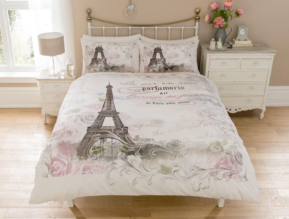 Sleepdown Paris Panel Juego de Funda de edredón Doble, algodón, Doublé