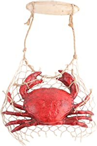 IMIKEYA Crab Decoration for Wall Resin Artifical Crab Ornament Model Creative Sculpture Wall Hanging Decoration Seafood for Home Kitchen Wall Decoration