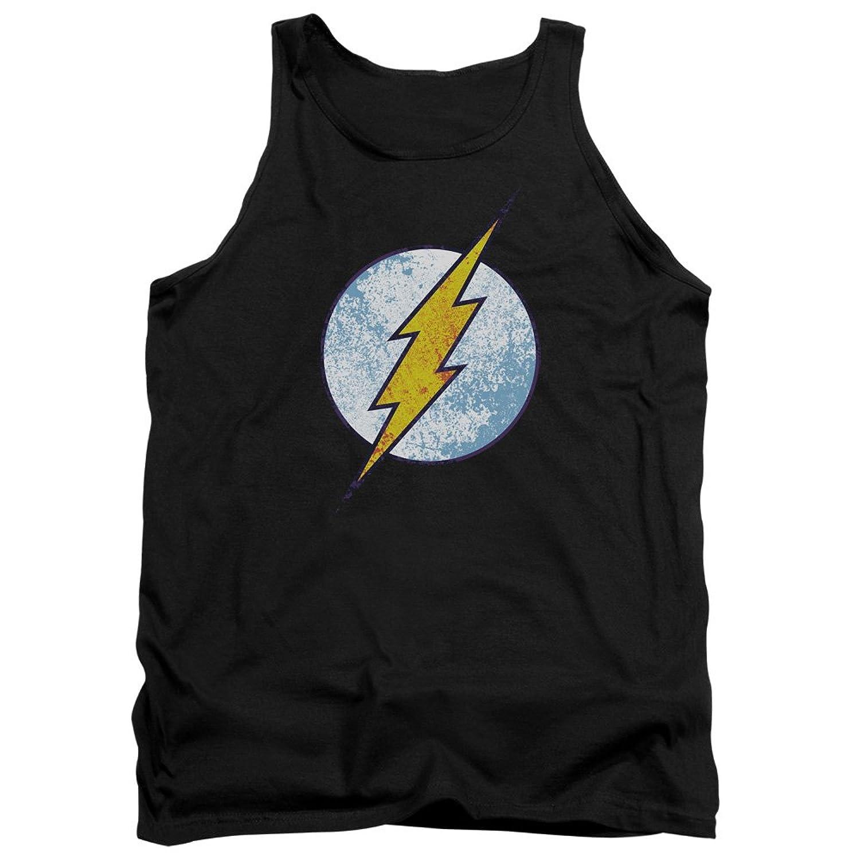 DC Comics Flash Neon Distress Logo Adult Tank Top Shirt