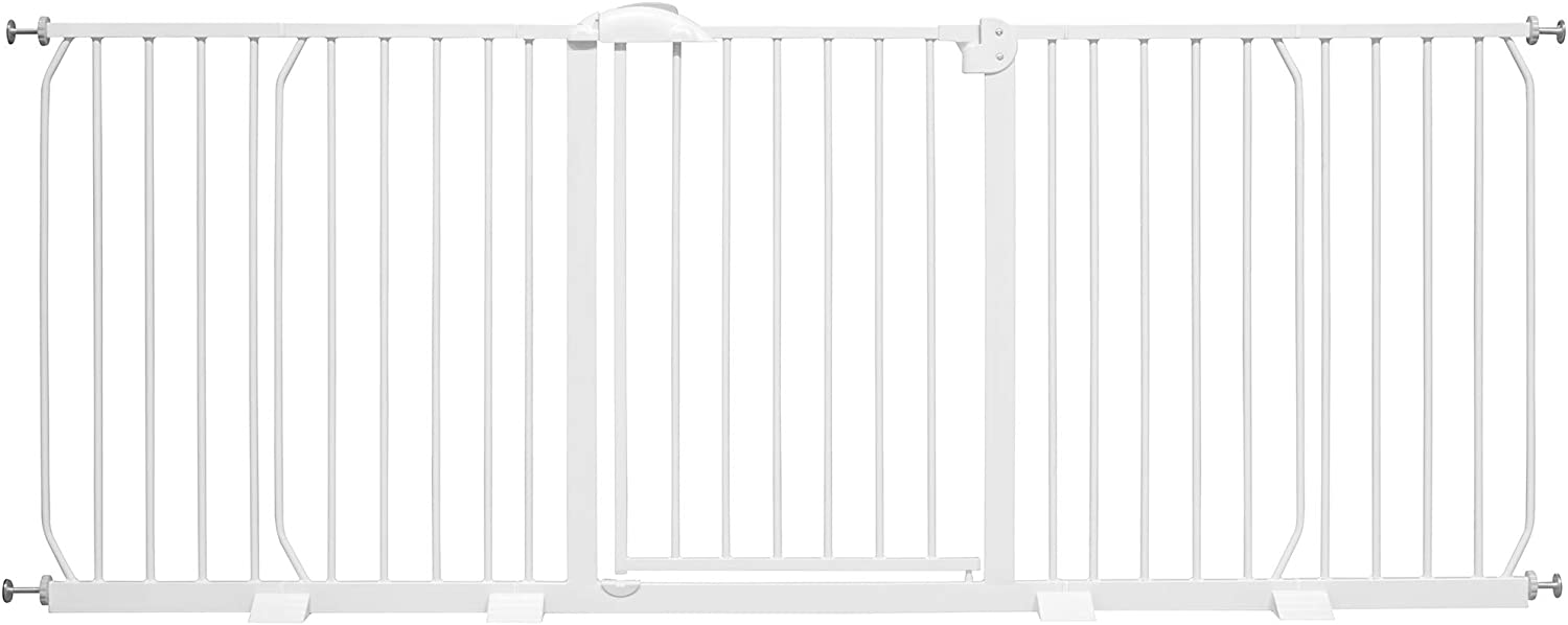 Auto-Close| 90/° Stop |White Pet gate No drilling ib style/® Mika Safety gate available up to 265 cm 75-85 cm