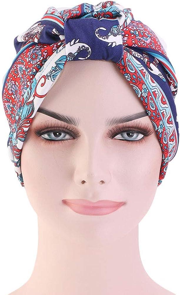 DuoZan Cotton Turbans Satin Liner Double-Layered Beanie Chemo Cap Sleep Bonnet