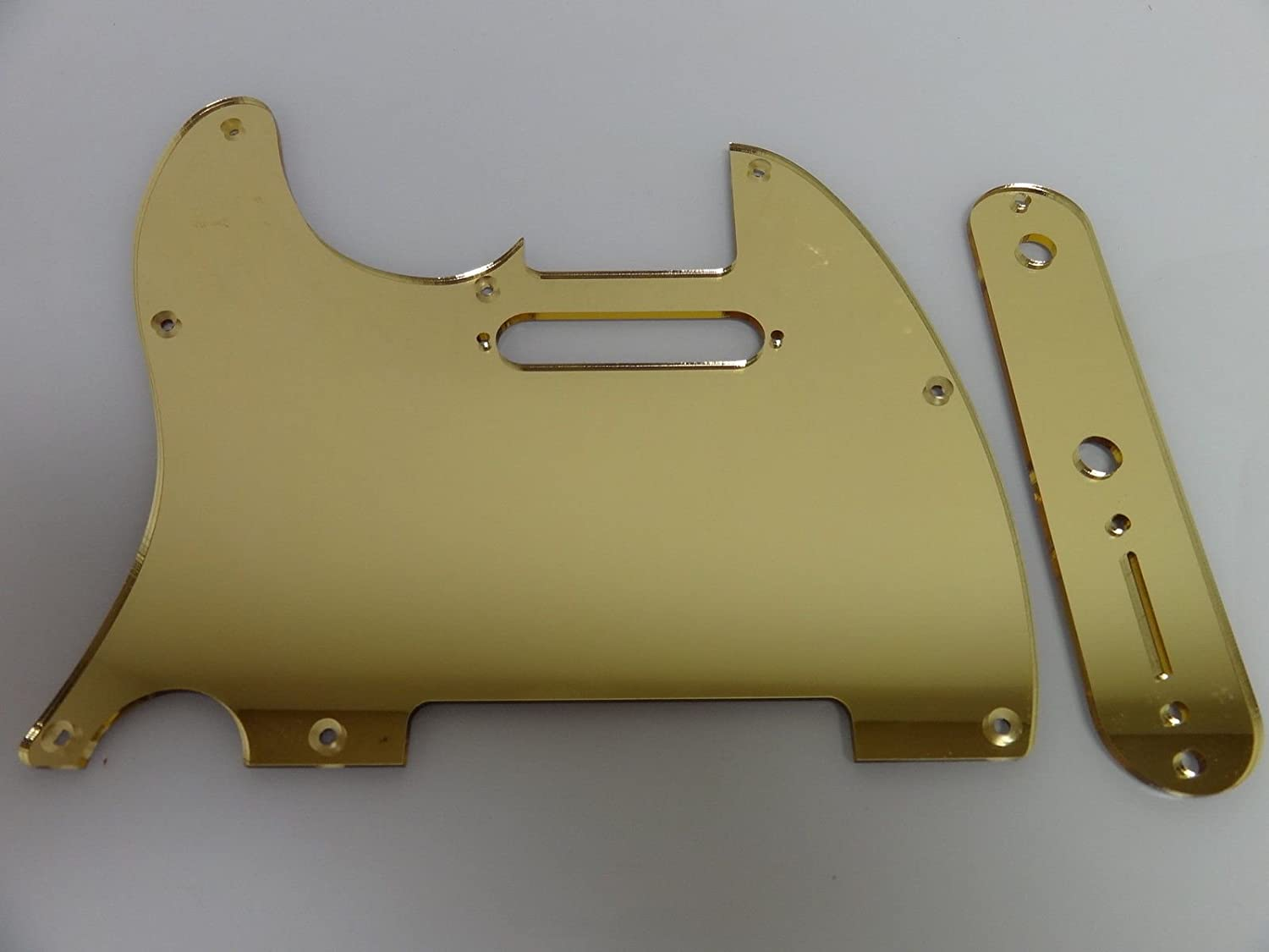 Gold Mirror control plate cover fits Fender Tele Telecaster