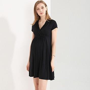 ZH Las mujeres embarazadas visten el vestido de verano 2018 moda Europa y América madre caliente