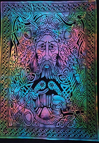 Indian Craft Castle ICC Lord Poster Hippie Decor Tapestry Wall Hanging Dorm Collage Bohemian Art Psychedelic Small Hippie Rasta Ganja 30x40 inches