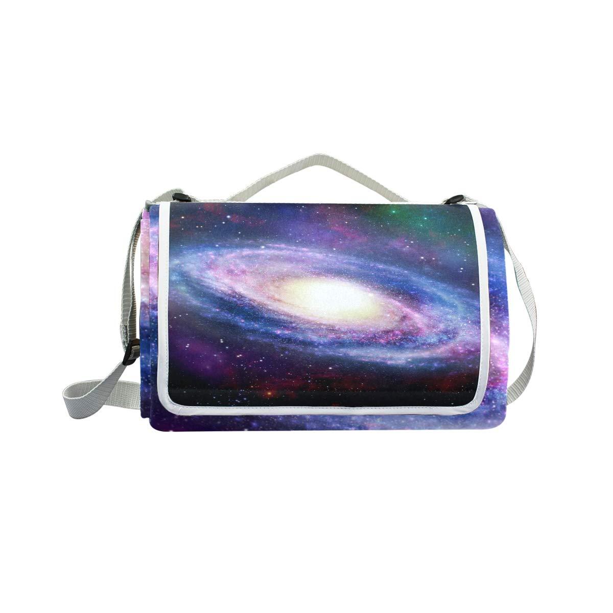Jeansame Galaxy Stars Universe Space Nebula Picnic Mat Coperta da Picnic, da Campeggio per Outdoor Viaggio Yoga Escursionismo Impermeabile Portatile Pieghevole 150 x 145 cm