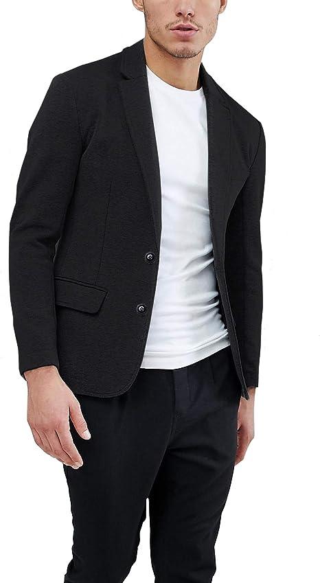 più alla moda forma elegante estetica di lusso Daupanzees Mens Casual Two Button Suits Lapel Blazer Jacket ...