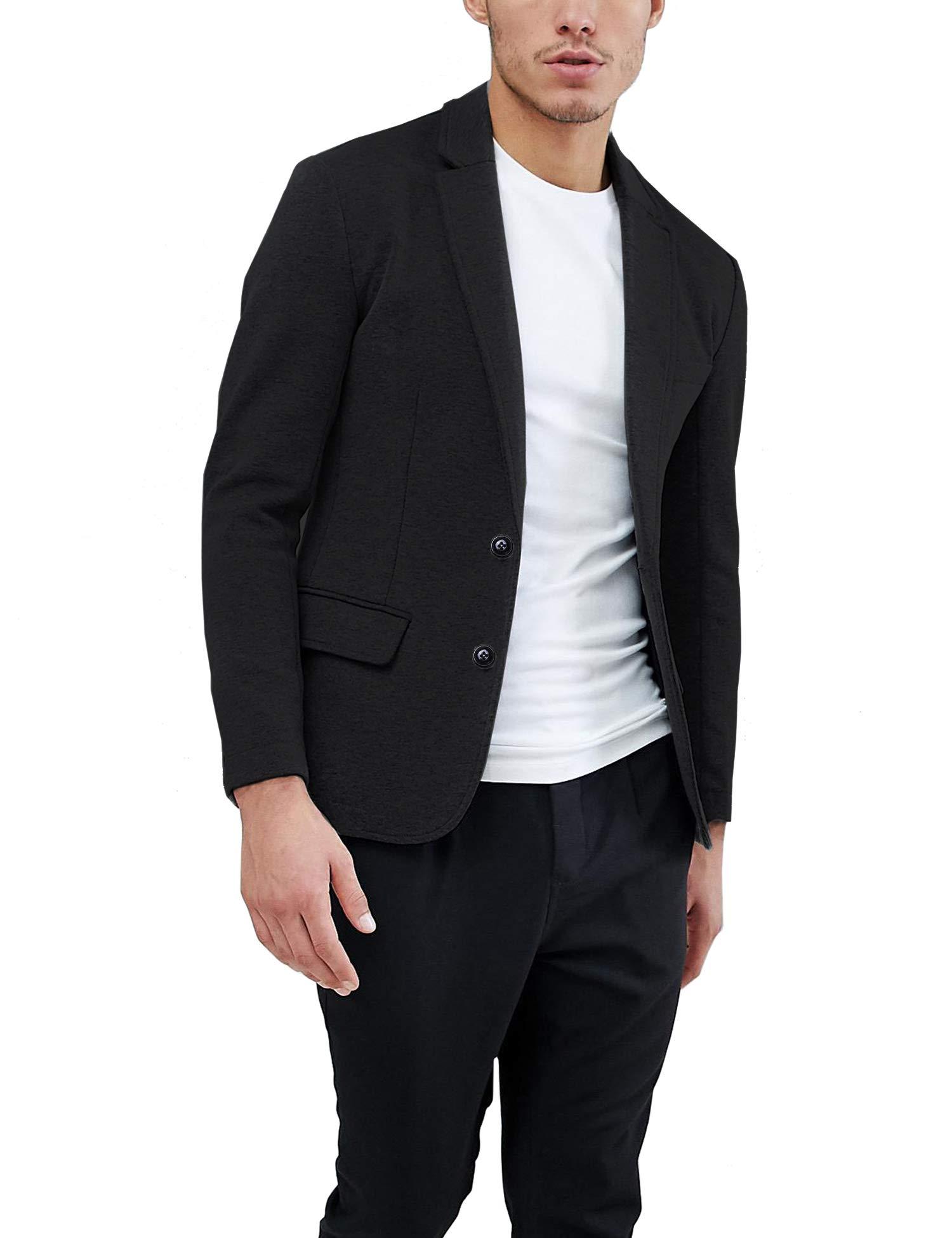 Daupanzees Mens Casual Two Button Suits Lapel Blazer Jacket Lightweight Sport Coat