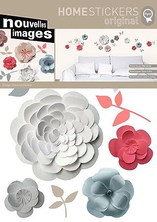 Wandtattoo Flowers grau/rosa/weiß: Amazon.de: Küche & Haushalt