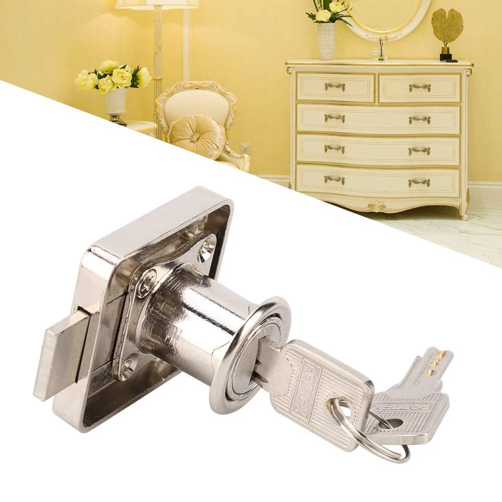 Mootea Office Cabinet Lock File Keys und Lock Ersatz Zink-Legierung Office File Cabinet Lock Home Schublade Kleiderschrank T/ür Secure Lock /& Keys 安装厚度22mm