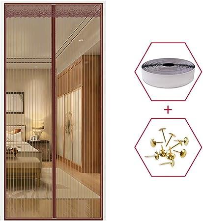 XHCP Puerta mosquitera magnética, Sellado automático y Sellado, Cierra automáticamente, para Puerta corredera de balcón, cafetería, 150 x 240 cm, 47x91inch(120x230cm): Amazon.es: Hogar