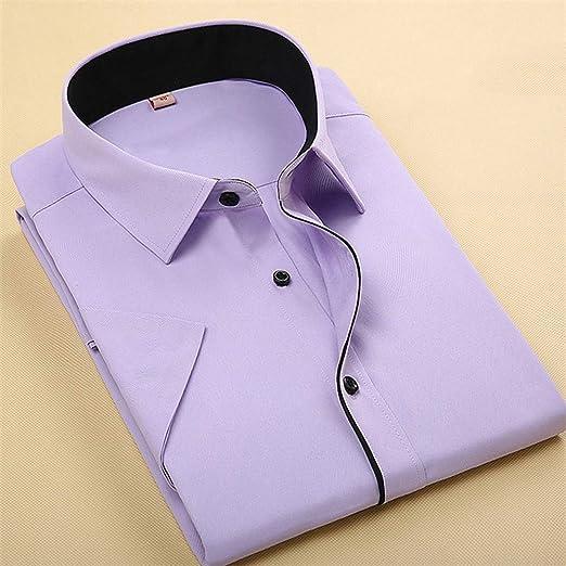 NSSY Camisa de Hombre Camisa de Verano para Hombre Camisa de Manga Corta para Hombre Sólido Camisas de Marca Formal Business Camisa Blanca Hombre, XXL: Amazon.es: Hogar