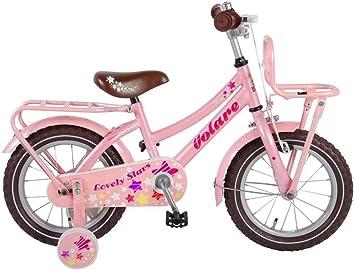 lovely stars Bicicleta Niña 14 Pulgadas Freno Delantero al Manillar y...