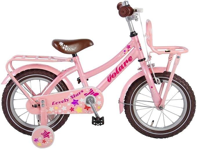 lovely stars Bicicleta Niña 14 Pulgadas Freno Delantero al ...