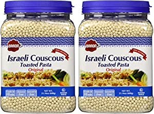 Baron's Kosher Original Traditional Israeli Couscous Toasted Pasta 21.16-ounce Jar (Pack of 2)
