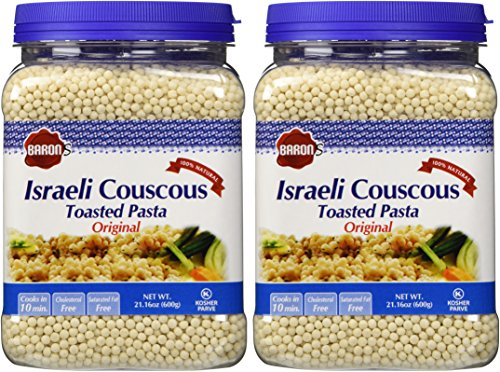 (Baron's Kosher Israeli Couscous Toasted Pasta 21.16-ounce Jar - Pack of 2 - (Israeli Couscous))