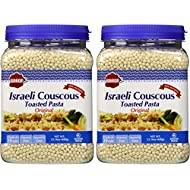 Baron's Original Israeli Couscous Toasted Pasta | 100% Natural Pearled Noodles for Salads, Soups & Side Dishes | Cooks in 10 Minutes! | Kosher| 2 Pack 21.16oz Jars