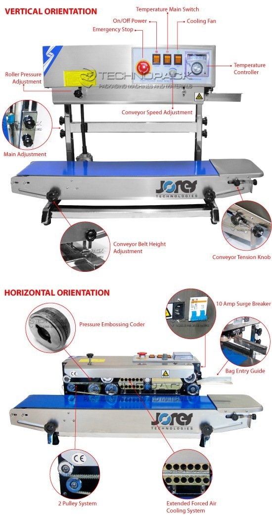 JORESTECH Continuous Band Sealer CBS-730I (Stainless Steel)