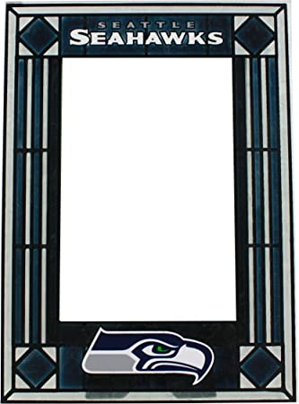 seattle seahawks art glass frame