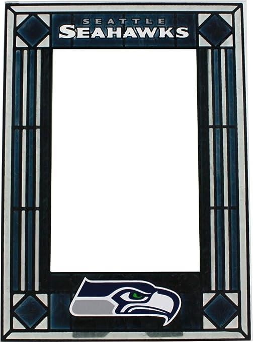 Amazon Seattle Seahawks Art Glass Frame Sports Fan Picture