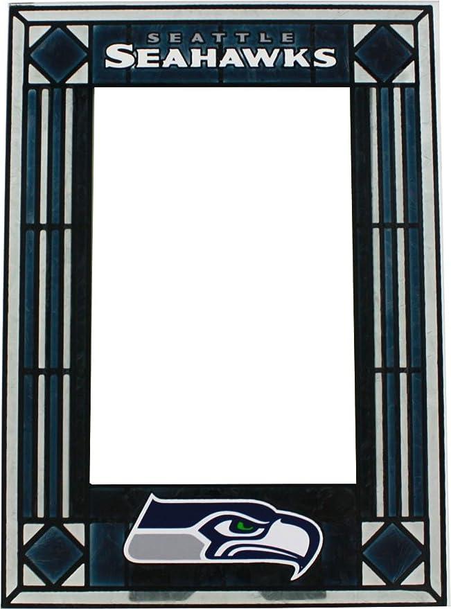 Amazon.com : Seattle Seahawks Art Glass Frame : Sports Fan Picture ...