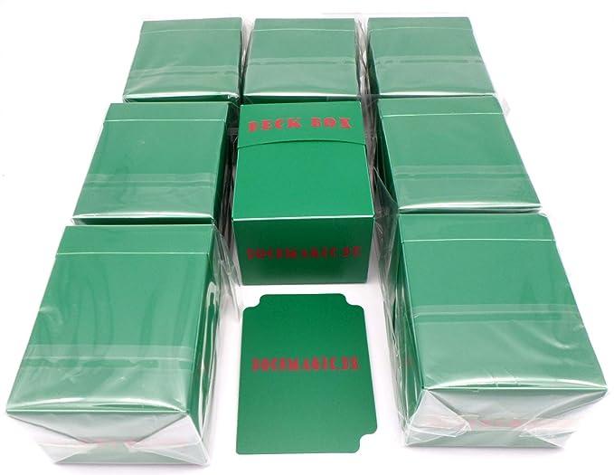 docsmagic.de 8 x Deck Box Green + Card Divider - Caja Verde - PKM ...
