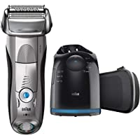 Braun Series 7 7897cc Wet&Dry Electric Shaver with Clean&Charge System, premium silver