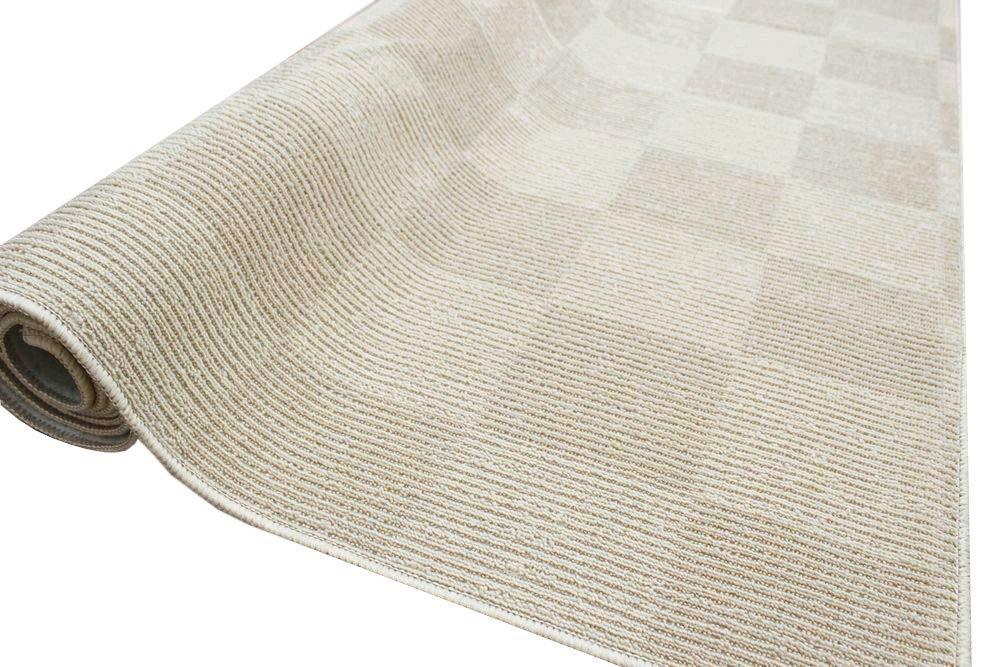 カーペット 8畳 日本製 マス柄じゅうたん 抗菌 防臭 フィオーレ 8帖 352×352cm アイボリー B01CAIP93W アイボリー 8畳 (352×352cm)