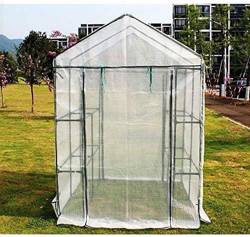 ビニールハウス 補強カバーとサイド換気装置を持つ温室効果テント、PE防水温室カバー、屋外ガーデンバルコニーのホーム植物温室テント、
