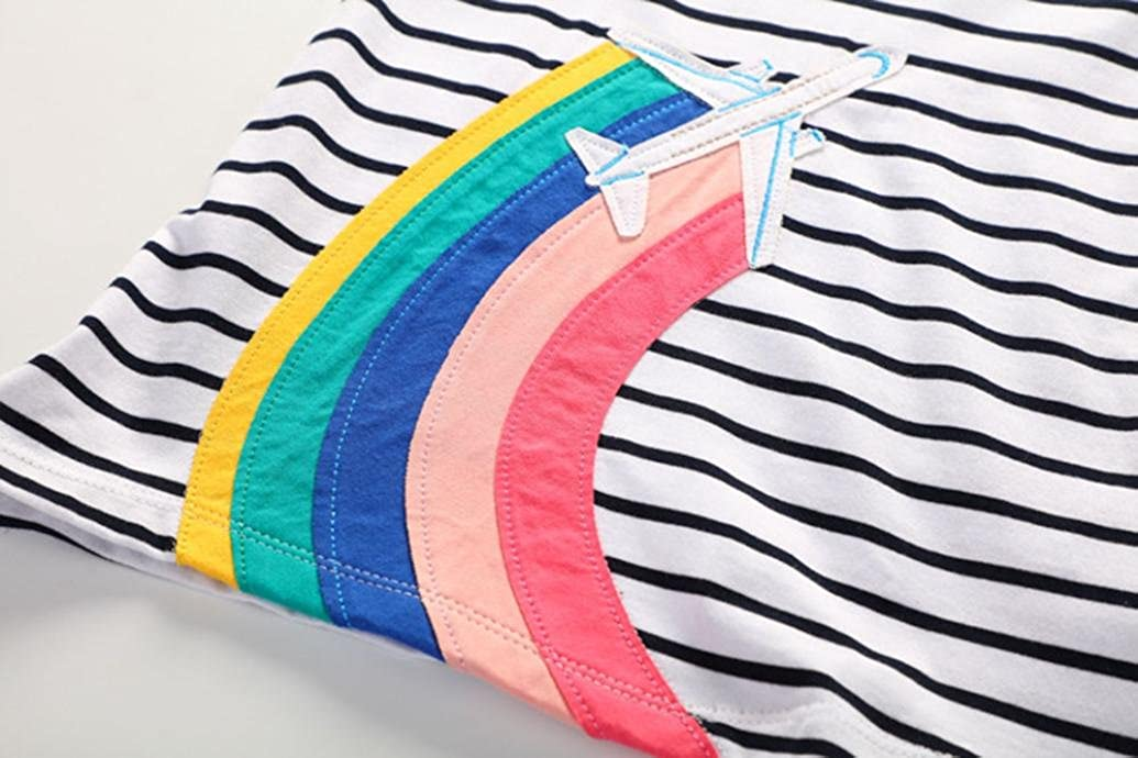Rainbow Stripe A-Line Skirt Dress Layered Layette 18M-6T Spring//Summer Memela Baby Girls Clothes