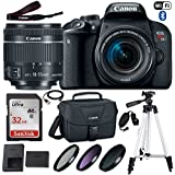 Canon EOS Rebel T7i DSLR Camera with Canon EF-S 18-55mm f/4-5.6 IS STM Lens, 32GB Memory, Canon Bag, 3 HD Filters, Grip Strap, USB Cable and 50 Inch Tripod