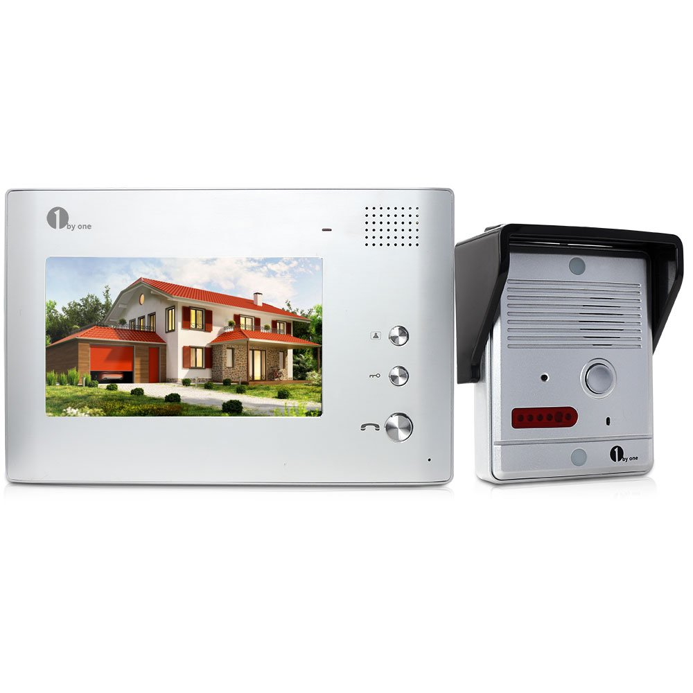 1byone 7 Inch Lcd Video Doorbell Camera System With Rain Cover