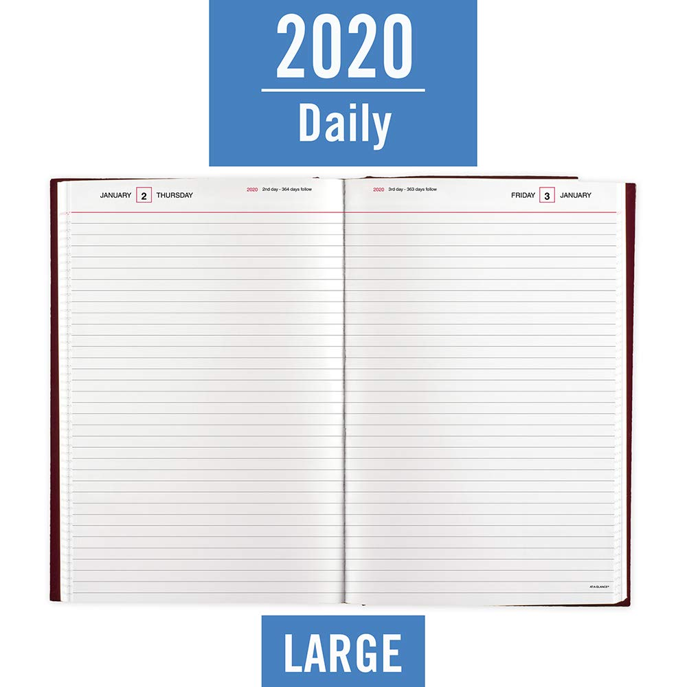 AT-A-GLANCE 2020 Standard Diary/Daily Journal, 7-3/4