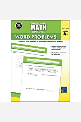 Singapore Math – Challenge Word Problems Workbook for 4th, 5th, 6th Grade Math, Paperback, Ages 9–10 with Answer Key Paperback