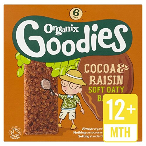 Organix extras Cacao Orgánico y pasas Barras de Cereales 6 x 30g: Amazon.es: Hogar