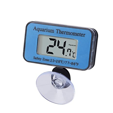NICERIO Termómetro subacuático Sumergible del Acuario del LCD Digital con la Ventosa Clara