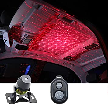 img buy Auto interiors Roof Star Projector Lights With 3 Remote Control Modes, Meteor Efect USB Night Lamp Fit All Cars Ceiling Decoration Light Interior Ambient Atmosphere
