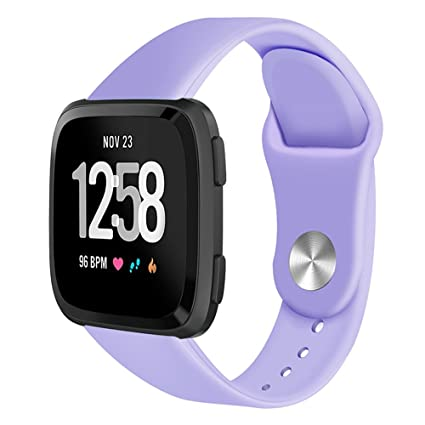 Fitbit Versa Bands for Women Men Small Large,Soft Silicone Sport Strap Replacement Band Wristband Bracelet For Fitbit Versa Fitness Smart Watch