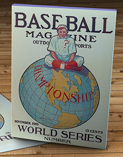 1910 Vintage Baseball Magazine Cover - World Series - Canvas Gallery Wrap - 11 x ()