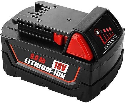 18V 9,0Ah Lithium Ion XC Akku Für Milwaukee M18 M18B4 48-11-1828 48-11-1850 DE