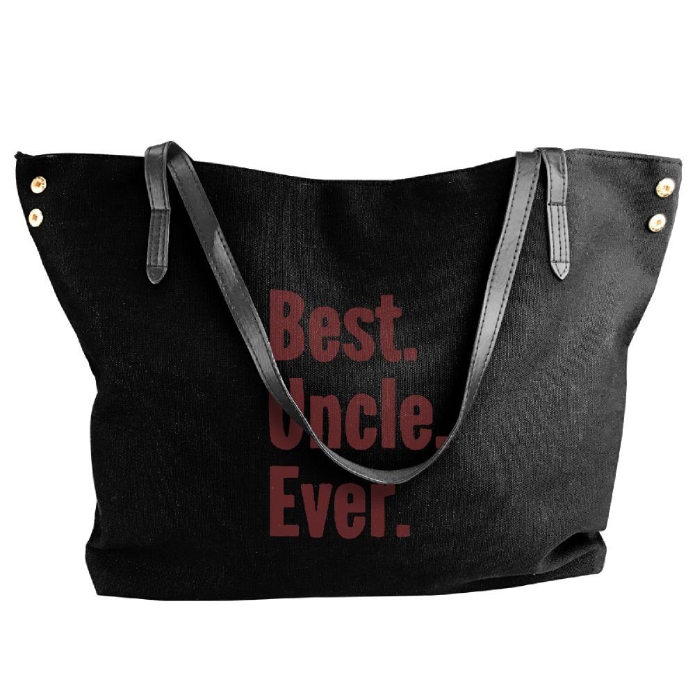 BlackRed Best Uncle Ever Women's Casual Black Shoulder Bag
