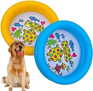 Shjjyp 2 Piezas Piscina Perros Y Gatos Bañera Plegable Piscina para Niños Antideslizante Y Resistente Al Desgaste, Adecuado para Interior Exterior Al Aire Libre