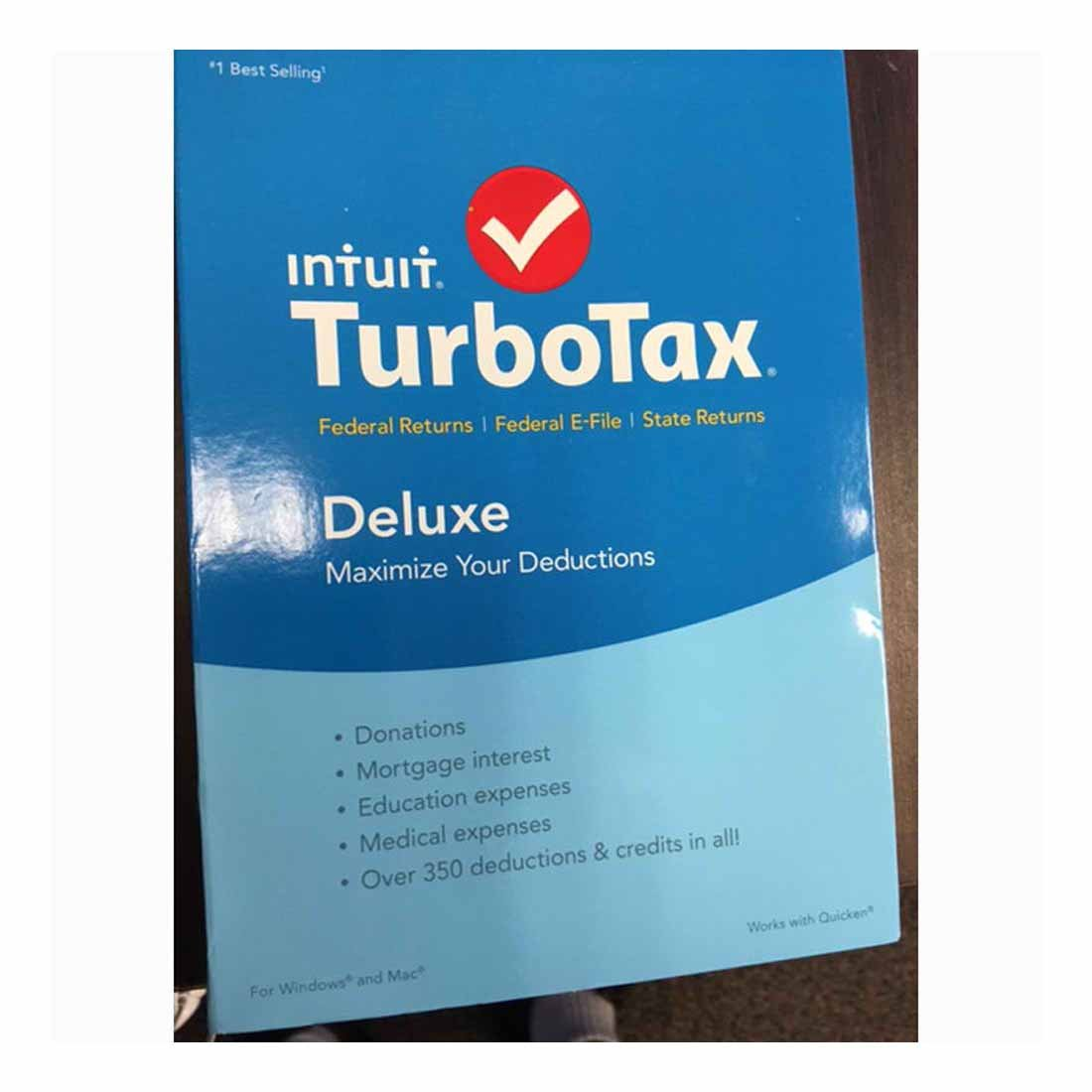 TurboTax Deluxe 2015 Federal + State Taxes + Fed Efile Buyer's Choice by TurboTax