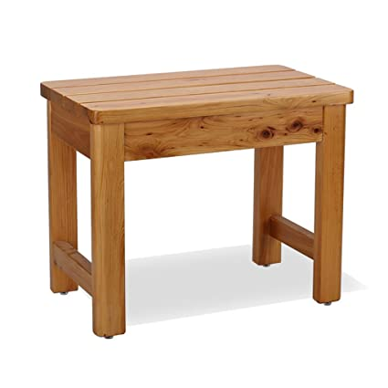 Amazon.com: Bath Stool Bathroom stool home solid wood foot bath ...