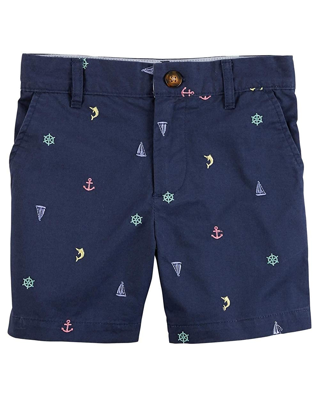 Navy Sea Print Carters Baby Boys Chino Shorts 6 Months