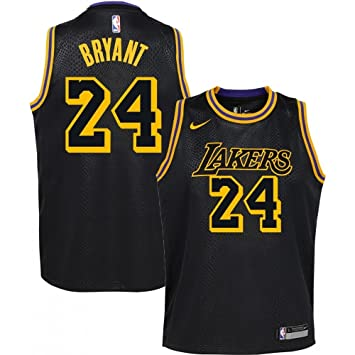 Nike NBA Los Angeles Lakers Kobe Bryant 24 2017 2018 City Edition Jersey Black Mamba Oficial Away, Camiseta de Niño: Amazon.es: Deportes y aire libre